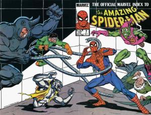 Official Marvel Index to the Amazing Spider-Man #7 VF/NM; Marvel | save on shipp