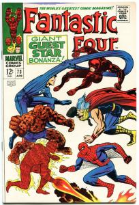 FANTASTIC FOUR #73, VF+, Spider-Man, Thor, Jack Kirby, 1961, more in store, QXT