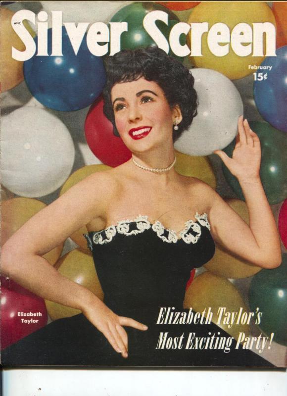 Silver Screen-Elizabeth Taylor-Dan Dailey-Alan Ladd-Barbara Stanwyck-Feb-1951