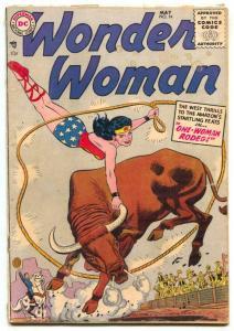 Wonder Woman #74 1955- DC Comics Rodeo cover G+