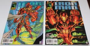 Marvel Comics(Lot of 2)IRON MAN Volume 2 #1(includes Variant Cover) F/VF(SIC590)