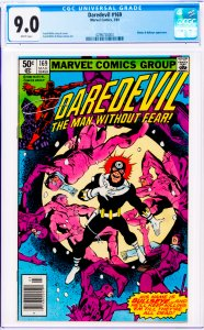 Daredevil #169 CGC Graded 9.0 Elektra & Bullseye appearance.