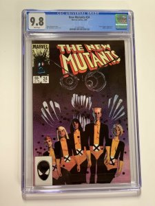 New Mutants 24 Cgc 9.8 White Pages Marvel X-men Copper Age