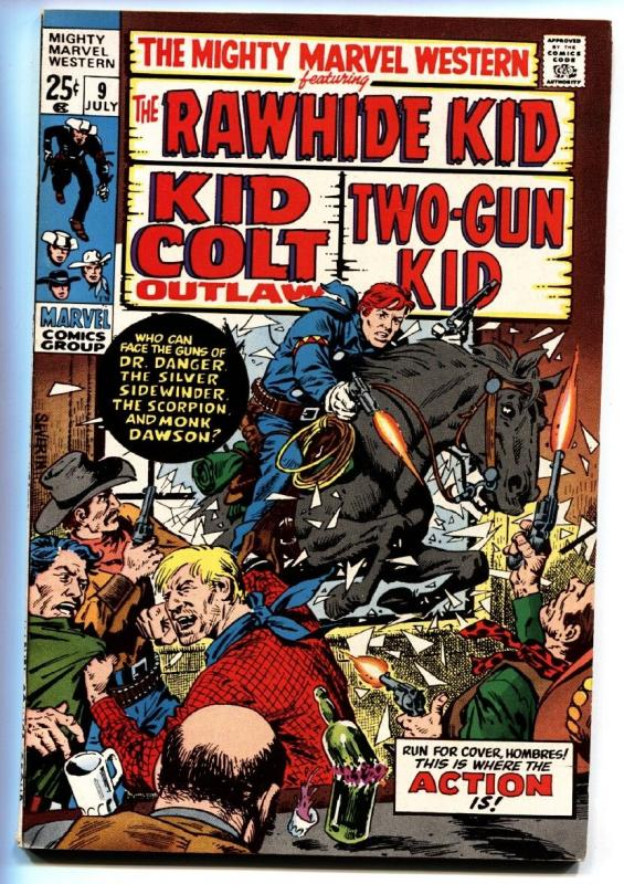 MIGHTY MARVEL WESTERN #9-RAWHIDE KID/KID COLT/TWO-GUN VF/NM
