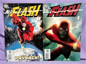 Mark Waid ALL FLASH #1 Sienkiewicz and Middleton Covers (DC, 2007)!