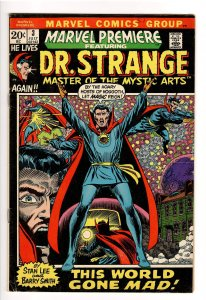 MARVEL PREMIERE #3 F/VF(1972);CLASSIC DR.STARNGE STORY;WORLD SPINS MAD!