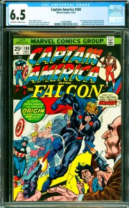 Captain America #180 CGC Graded 6.5 Steve Rogers becomes Nomad. Madame Hydra ...