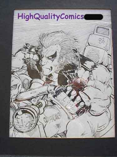 LOBO Original Art by Frydendall, Frag, motorcycle, Maim, more Lobo in store