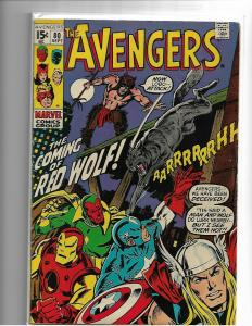 AVENGERS #80 - VG/FN - 1ST APPEARANCE RED WOLF - SILVER AGE KEY