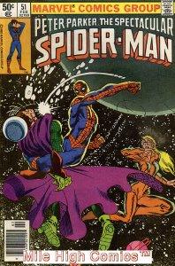 PETER PARKER (1976 Series)  (SPECTACULAR SPIDER-MAN) #51 NEWSSTAND Near Mint