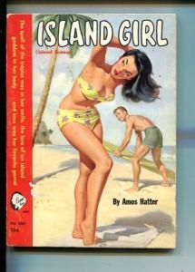 ISLAND GIRL-#364-1954-CAMEO BOOKS-GGA SPICY SWIMSUIT-3RD EDITIONvg