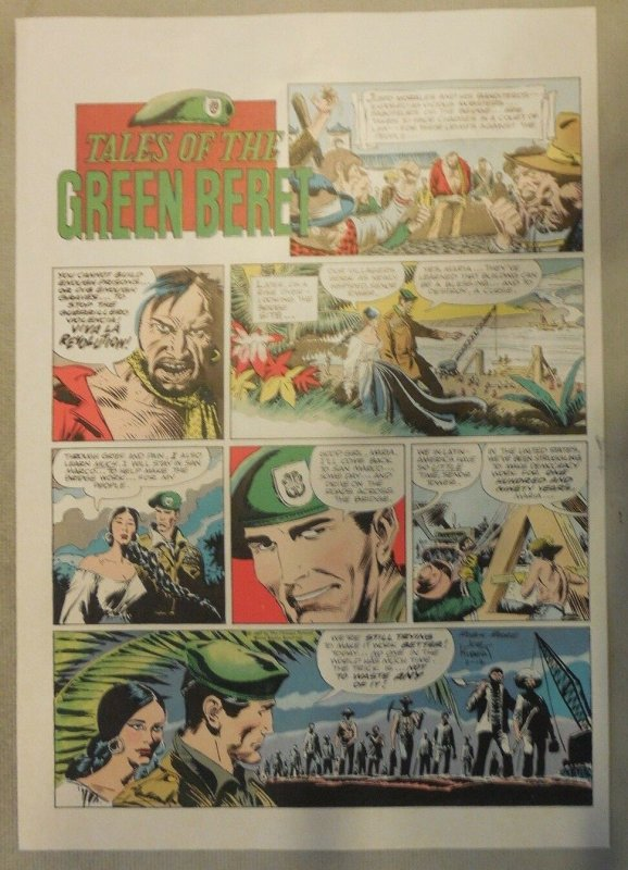 Green Beret by Joe Kubert Color Syndicate Proof 2/12/1967 Size: 11 x 15 inches