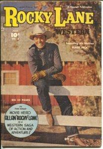 Rocky Lane Western #3 1949-Fawcett- B-Western movie star photo cover-VG/FN
