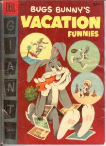 BUGS BUNNYS VACATION FUNNIES 6 G+ DELL GIANT COMICS BOOK
