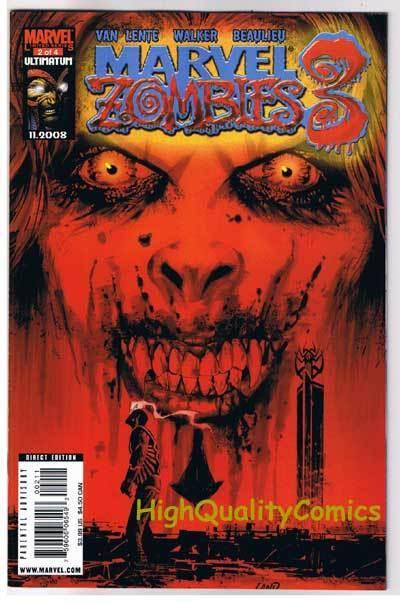 MARVEL ZOMBIES 3 #2, VF+, Undead, Walking Dead, 2008, more Marvel in store