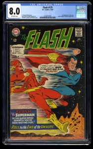 Flash #175 CGC VF 8.0 Off White Superman race! DC Comics