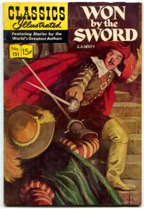 Classics Illustrated #151 HRN 150-Won by the Sword by GA Henty-1ST FN