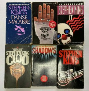 Stephen King lot all 6 different books Used condition Years vary