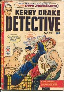 Kerry Drake Detective Cases #19 1950-Harvey-Bondage/Torture cover-Bob Powell-VG