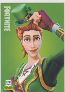 Fortnite Sgt Green Clover 140 Uncommon Outfit Panini 2019 trading card series 1