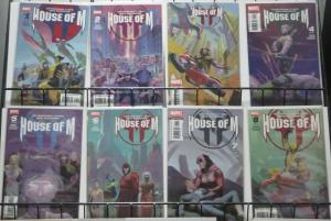 HOUSE OF M (Marvel, 2005) #1-8 COMPLETE! FINE/+ Benis, Coipel, Townsend