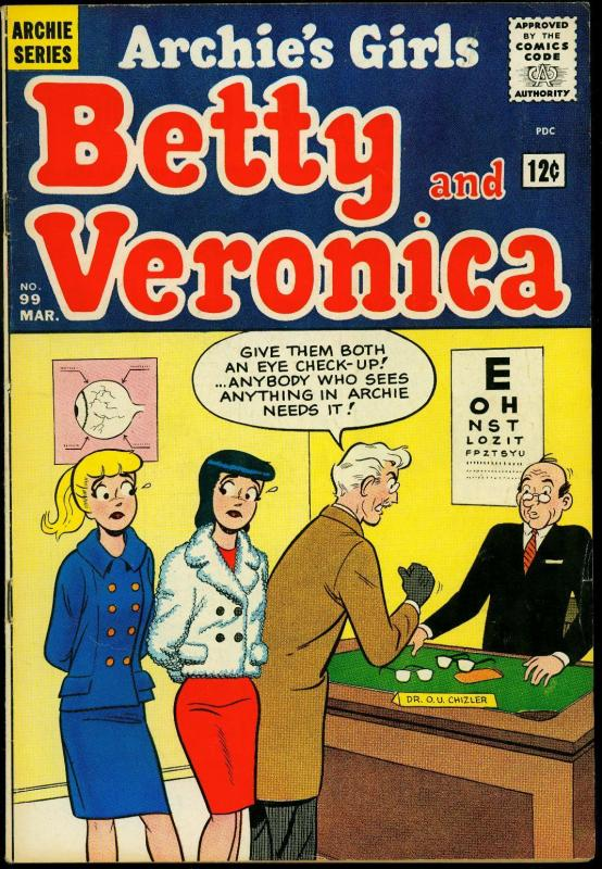 Archie's Girls Betty and Veronica #99 1964- Eyeball cover FN