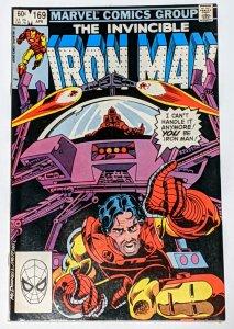 Iron Man #169 (Apr 1983, Marvel) F/VF 7.0 1st Jim Rhodes as Iron Man