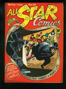 ALL-STAR COMICS #20-DR. FATE/SANDMAN-JSA-FILM COVER--DC FN+