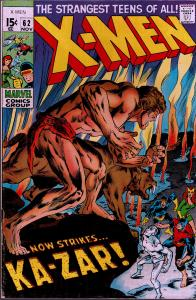 X-Men #62 - Signed by Neal Adams - 5.0 or Better