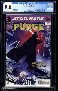 Star Wars: Purge nn CGC NM+ 9.6 White Pages One Shot Adam Hughes Art!