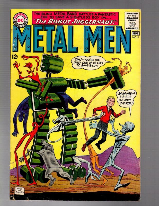METAL MEN 9 VERY GOOD MINUS  September 1964