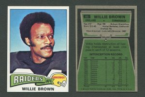 1975 Topps Football /  Willie Brown #95  /  MINT