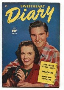 Sweetheart Diary #11 1952- Golden Age Romance-Lingerie panels VG/FN