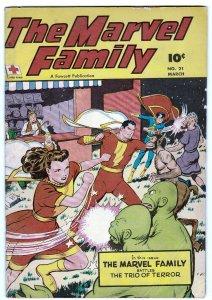 MARVEL FAMILY #21-1948-FAWCETT-CAPTAIN MARVEL-golden age-sci-fi cover