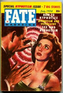 FATE-1954-July-PULP-Mystery-Exploitation-Strange-VIRGIL FINLAY cover-HYPNOTISM-R
