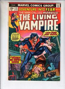Adventures Into Fear #23 (Aug-74) VG/FN Mid-Grade Morbius the Living Vampire
