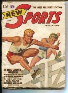 New Sports 7/1948-Popular-high hurdles cover-pulp fiction-baseball tennis-gol...