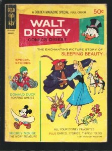 Walt Disney Comics Digest #19 1970-Sleeping Beauty-Carl Barks-Donald Duck-Unc...