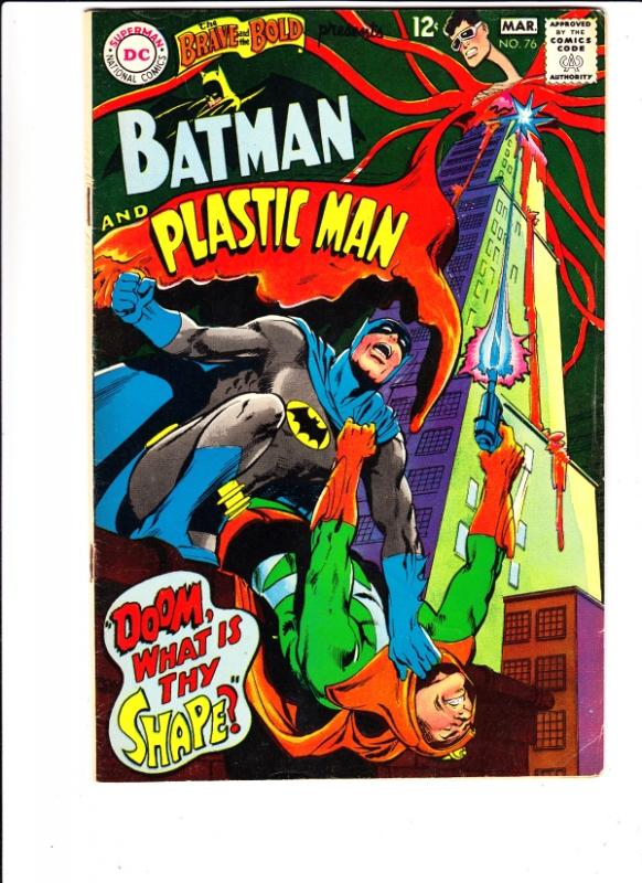 Brave and the Bold, The #76 (Mar-68) FN+ Mid-Grade Batman, Plastic Man