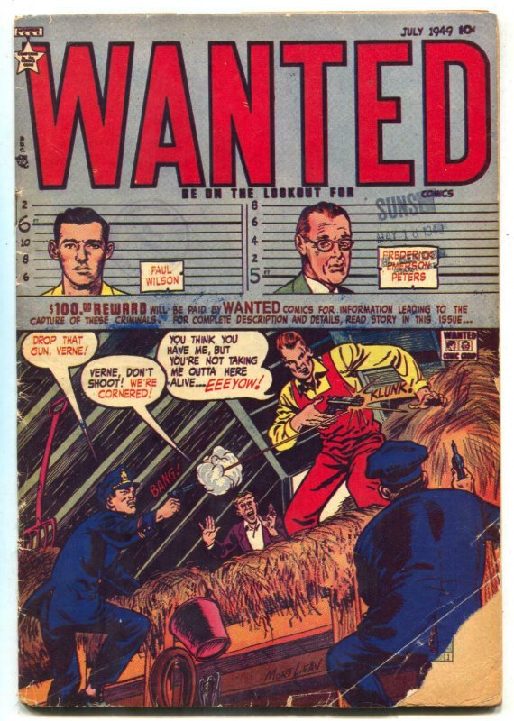 Wanted #21 1949- Golden Age Precode Crime- G