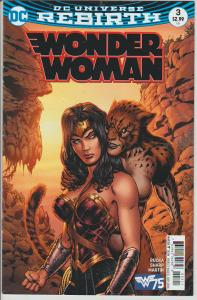 WONDER WOMAN #3 - DC UNIVERSE REBIRTH - BAGGED & BOARDED