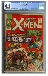 X-Men #12 (Marvel, 1965) CGC Graded 4.5