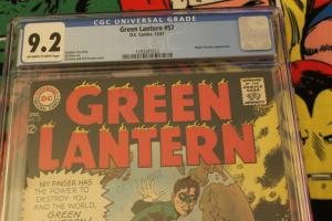 Green Lantern #57 (DC, 1967) CGC NM- 9.2 Off-white to white pages