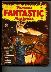 Famous Fantastic Mysteries-Pulp-10/1949-Gilbert Collins-Ray Bradbury