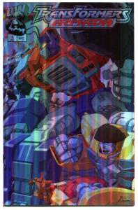 TRANSFORMERS ARMADA #1, Holofoil, Robots, NM+, Sci-Fi, Cars to Robots