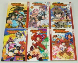 Real Bout High School vol. 1-6 complete series - samurai girl - tokyopop manga