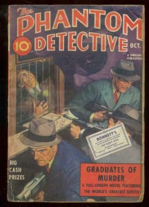 PHANTOM DETECTIVE OCT 1938-GRADUATES OF MURDER PULP G