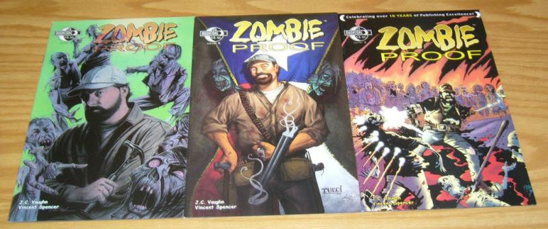 Zombie Proof #1-3 VF/NM complete series ALL B VARIANTS zombie invasion suburb 2