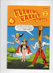 FLAMING CARROT #15, VF+, Bob Burden, Monster Fighter ,1984 1987 more FC in store