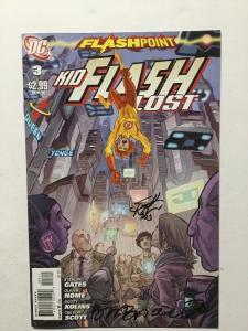 DC Comics 3 Flashpoint Signed Scott Kolins Brian Buccellato Nm  Near Mint
